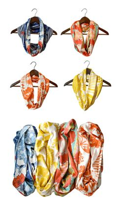 scarves from Ash & Anchor: shop.ashandanchor...