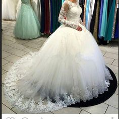 2016 Vintage Sexy Long Sleeves Lace Ball Gown Wedding Dresses Scoop Neck Tulle Applique Beaded Wedding Bridal Gowns With Lace Up Back 67028 Islamic Wedding Dresses Maternity Wedding Dress From Enjoyweddinglife, $147.38| Dhgate.Com