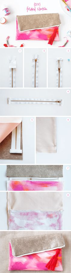 DIY Folded Clutch Tutorial