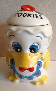 Vintage Duck Cookie Jar Made In Brazil by sinderellasattic on Etsy, $30.00