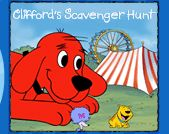 Clifford's Scavenger Hunt~  Games, printables, and more at PBSKids.org.