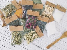 The perfect DIY Apothecary kit for all the souls devoted to nature & inspired by the old ways. This unique Herbal set includes: -15 Organic natural elements featured in 3 X 2 labeled bags [Baking soda, Bay leaves, Chamomile, Hibiscus, Jasmine buds, Lavend