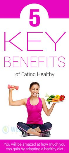 Majority of us realize that the greatest benefits of eating healthy are that we will stay physically... #nutrition