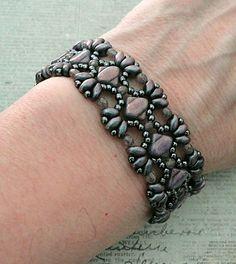 Linda's Crafty Inspirations: Bracelet of the Day: Bridges Bracelet - Orchid Aqua