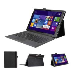 Premium Folio Case With Stand for Microsoft Surface Pro 3 - Black – Khomo Accessories