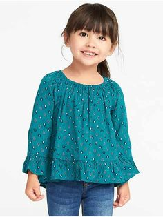 Old Navy Crinkle-Gauze Ruffle-Trim Tunic for Toddler Girls Hipster Girl Outfits, Trendy Boy Outfits, Trendy Girl, Cute Outfits For Kids, Toddler Girl Outfits, Toddler Girls, Cool Boys Clothes, Girls Clothes Shops, Cheap Kids Clothes