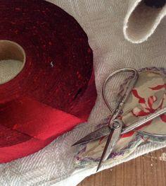 red dupioni silk ribbon by ShyMyrtle on Etsy https://www.etsy.com/listing/174138921/red-dupioni-silk-ribbon