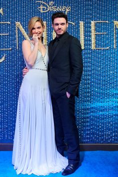 Lily James and Richard Madden at the Cinderella Premiere in Mexico City on March 5th, 2015.
