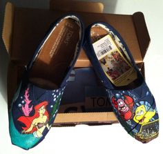 Hand Painted Disney The Little Mermaid TOMS by MrEartdesigns, $100.00