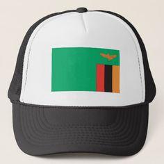 Zambian Flag Trucker Hat Zambia Flag, Political Events, National Flag, Custom Hats, Flags, Kids Outfits, Baseball Hats, Reusable Tote Bags, Baseball Caps