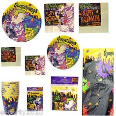Vintage Goosebumps Halloween Birthday Party Supplies Pick 1 or Many for Set | eBay