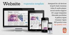 Website - responsive template - Portfolio Creative