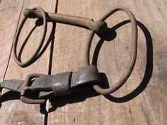 Antique Hand Forged horse bit Primitive Horse by Itzvintagedarling, $18.00