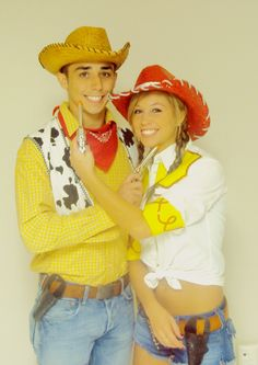Woody and Jessie toystory homemade couples halloween costumes  sc 1 st  Pinterest : woody costume adults  - Germanpascual.Com