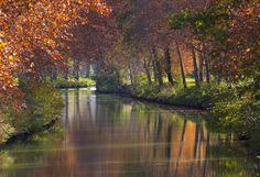 Landscape Photos, Landscape Photography, Le Canal Du Midi, Side Road, Languedoc Roussillon, Canal Boat, France Europe, Travel Goals, Culture