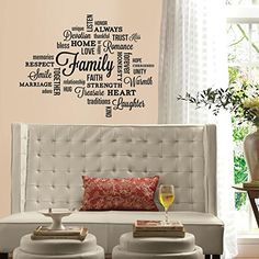 RoomMates RMK2741SCS Family Quote Peel and Stick Wall Decals *** Check out the image by visiting the link.