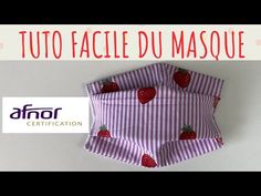Tutorial beginner mask afnor 3 layers - fast and easy Hat Patterns To Sew, Sewing Patterns, Fanni Stitch, Formation Couture, Cute Baby Gifts, Easy Face Masks, Sewing Blogs, Simple Bags, Tutorials