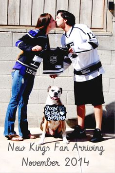 Pregnancy Announcement LA Kings Style