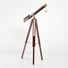 Deco Telescope Brass, now featured on Fab. Tripod Lamp, Telescope, Brass, Lighting, Design, Home Decor, Ideas, Wall Clocks, Mirrors