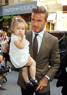 David Beckham and baby girl, Harper