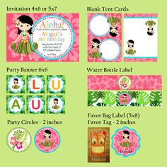 Custom Hawaiian Luau Printables  As Seen on by PartyMadeEasy, $30.00