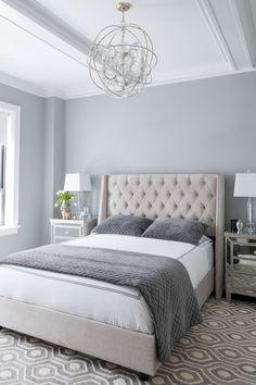 Modern White Furniture Master Bedroom | www.bocadolobo.com #modernfurniture #moderndesignideas #lighting #patternrugs #manchesterwarehouse