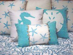 Coastal Bedding Twin Quilt Reef Blue