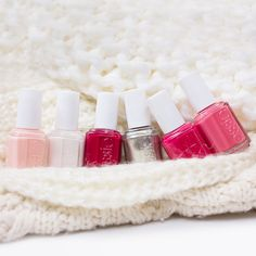 Warm knits and a fabulous essie winter mani always go hand in hand.
