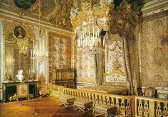 French design...and there is a bed there somewhere...  If you saw the movie...this is Marie Antoinette's bedroom at the palace of Versailles