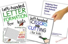 Set of 3 guides on helping left-handed children