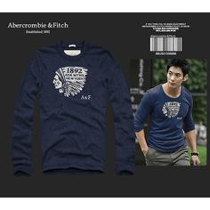 USD$26 Replica Abercrombie & Fitch A&F AF Fashion T Shirt Men Men Clothes Long Sleeve O-Neck Hoodie Badge Tshirt Tops Tees