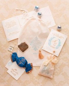 Guests Received Welcome Bags With Chocolates Tea And A Booklet Telling The Michelle Chris S Story Leading Up To Their Italian Wedding