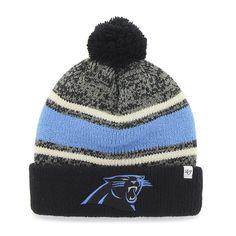 c8202e6c4 Carolina Panthers Fairfax Cuff Knit Black 47 Brand Hat