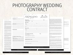 Wedding Photography contract business forms butterfly flowers editable templates - 5 psd files supplied on Etsy, $7.00