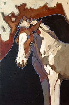 """""""In Her Shadow"""" 36x24 acrylic on canvas - can be seen at Act One Gallery, Taos, NM"""