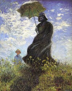 Funny pictures about Darth Monet. Oh, and cool pics about Darth Monet. Also, Darth Monet. Claude Monet, Star Wars Film, Star Wars Art, Cultura Pop, Darth Vader, Arte Pop, Art Plastique, Far Away, Oeuvre D'art