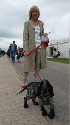 Hazel from Waddingham was spotted walking her very cute (and very well-behaved) spaniel Katie near the gardening marquee. We loved her light summer coat in a flattering pale mossy green, teamed with slim-fit chinos and funky shoes. It's a very cool look! Summer Coats, Funky Shoes, Slim Fit Chinos, Very Well, Good Old, Well Dressed, Dapper, How To Look Better, Walking