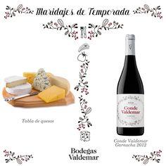 Tabla de quesos y Conde Valdemar Garnacha