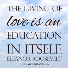 eleanor roosevelt quote about education - Google Search
