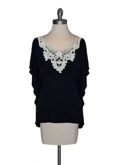 Crochet Collar Tunic..Love crochet design ..goes well with any design