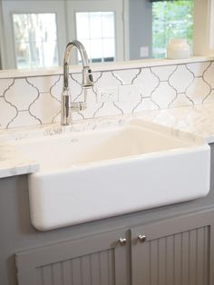 "A New Home and a Fresh Beginning for a Texas Mom : On_tv : HGTVCustomizing Touches After. ""There are a lot of details that we tried to make specific for you,"" says show host Joanna. The unique backsplash and oversized white farm sink add to Karla's personal style but also fit perfectly into the French country theme of the rest of the home."
