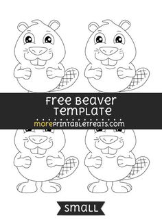 Free Beaver Template - Small