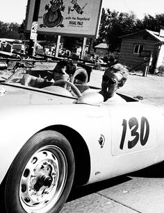 James Dean and his 550 Spyder.