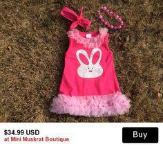 Hot Pink Easter Bunny Ruffle Dress Set