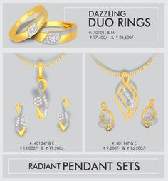 Are you looking for latest designs? Check out Kisna's Dazzling Duo Rings and Radiant Pendant Sets http://www.kisna.com/diamondjewellery