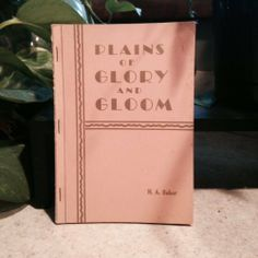 Plains of Glory and Gloom | Used, Rare, Vintage and Out of Print Books - www.ValiumBlueBooks.com #Books