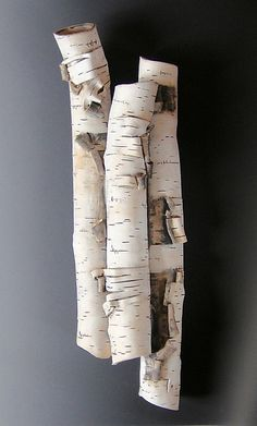 High Relief in Birch Motif by Lenore Lampi: Ceramic Wall Sculpture available at www.artfulhome.com