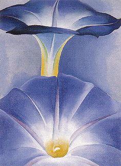 Georgia O'Keeffe Blue Morning Glories 1935