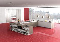 Colección Danxia. Disponible en 30x60 y 60x60 cm. Acabado Semipulido. Semi-Polished surface finished. #danxia #tauceramica #color #ceramica #tile #porcelanico #porcelaintile #interiordesign #cocina #kitchen www.tauceramica.com www.facebook.com/tauceramica
