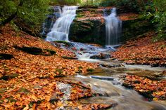 Merry Falls near DuPont State Forest in the NC mountains
